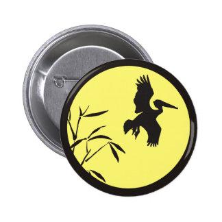 Pelican Silhouette 2 Inch Round Button
