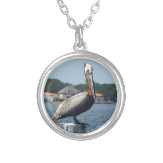 PELICAN SILVER PLATED NECKLACE