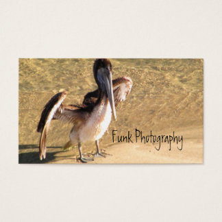 Pelican Stretching Wings Business Card