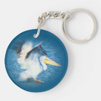 Pelican Watercolor 17 key chain