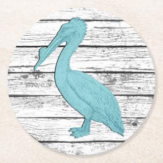 Pelican Your Color Boardwalk Round Paper Coaster