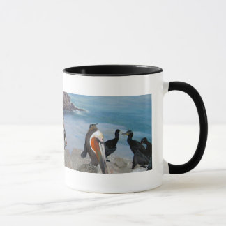 Pelicans and Cormorants mug