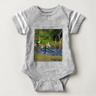 Pelicans in wetlands, Outback Australia Baby Bodysuit
