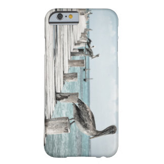 Pelicans On A Rustic Pier Barely There iPhone 6 Case
