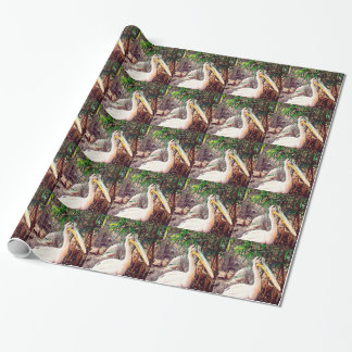 pelicans wrapping paper