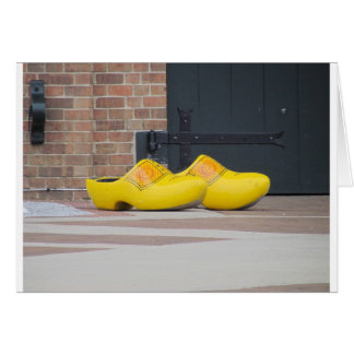Pella, Iowa, Yellow Wooden Dutch Shoes Card