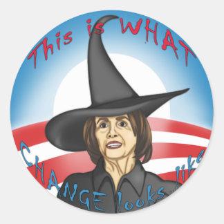 Pelosi: Looks like Change Classic Round Sticker