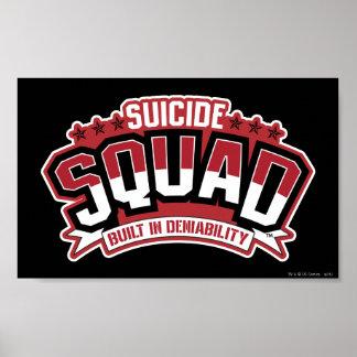 Peloton de suicide | construit dans le Deniability Poster