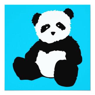 peluche de panda : couleur personnalisable carton d'invitation  13,33 cm