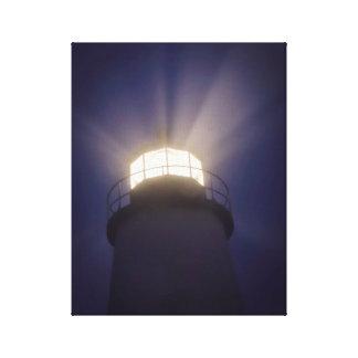 Pemaquid Lighthouse at night Canvas Print