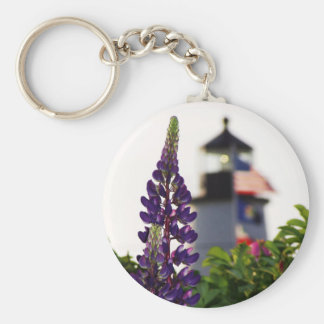 Pemaquid Lupin In the Distance Keychain