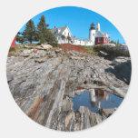 Pemaquid Point Light Round Sticker
