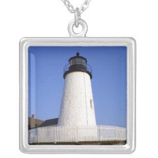 Pemaquid Point Light Silver Plated Necklace