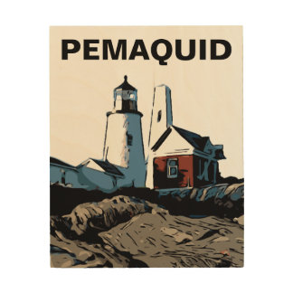 PEMAQUID POINT LIGHT WOOD WALL DECOR