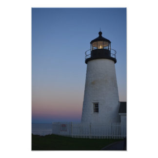 Pemaquid Point Lighthouse at sunset Photo Print