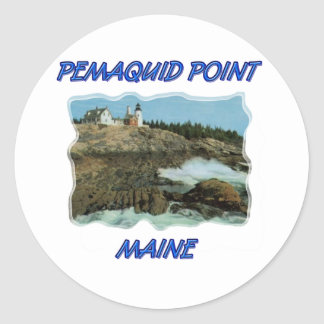 Pemaquid Point Lighthouse Classic Round Sticker