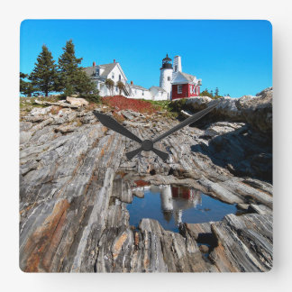 Pemaquid Point Lighthouse, Maine Square Wall Clock