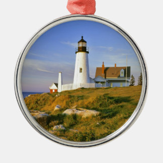 Pemaquid Point Lighthouse Metal Ornament