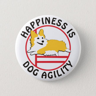 Pembroke Corgi Agility Happiness 2 Inch Round Button