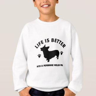 pembroke dog design sweatshirt