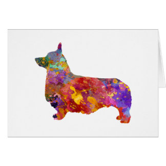 Pembroke Welsh Corgi 01 in watercolor 2 Card