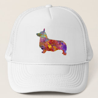 Pembroke Welsh Corgi 01 in watercolor 2 Trucker Hat