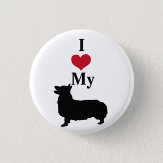 Pembroke Welsh Corgi 1 Inch Round Button