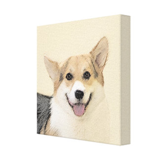 Pembroke Welsh Corgi 2 Painting - Original Dog Art Canvas Print