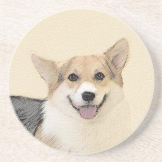 Pembroke Welsh Corgi 2 Painting - Original Dog Art Coaster