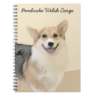 Pembroke Welsh Corgi 2 Painting - Original Dog Art Notebook