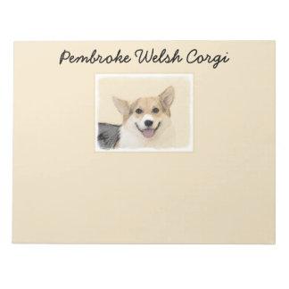 Pembroke Welsh Corgi 2 Painting - Original Dog Art Notepad