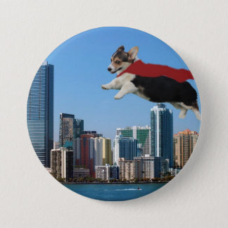 pembroke welsh corgi 3 inch round button