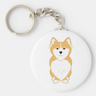 Pembroke Welsh Corgi Basic Round Button Keychain