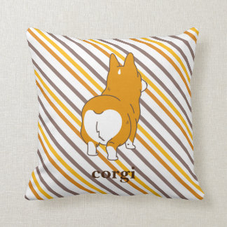 pembroke welsh corgi border throw pillow