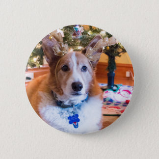 Pembroke Welsh Corgi Christmas 2 Inch Round Button
