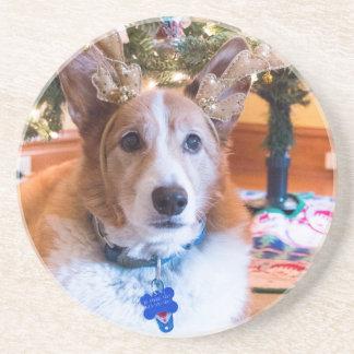 Pembroke Welsh Corgi Christmas Coaster