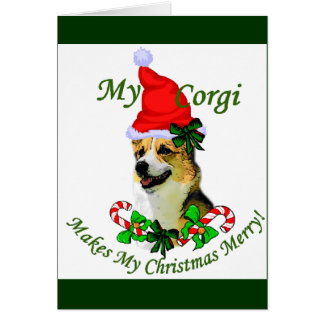 Pembroke Welsh Corgi Christmas Gifts Card