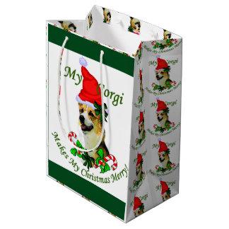Pembroke Welsh Corgi Christmas Medium Gift Bag