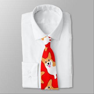 Pembroke Welsh Corgi Christmas Necktie