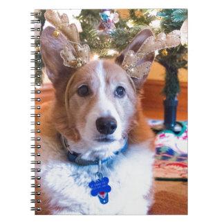 Pembroke Welsh Corgi Christmas Notebook