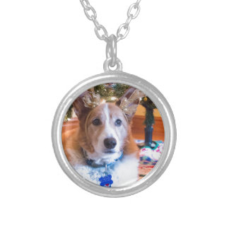 Pembroke Welsh Corgi Christmas Silver Plated Necklace