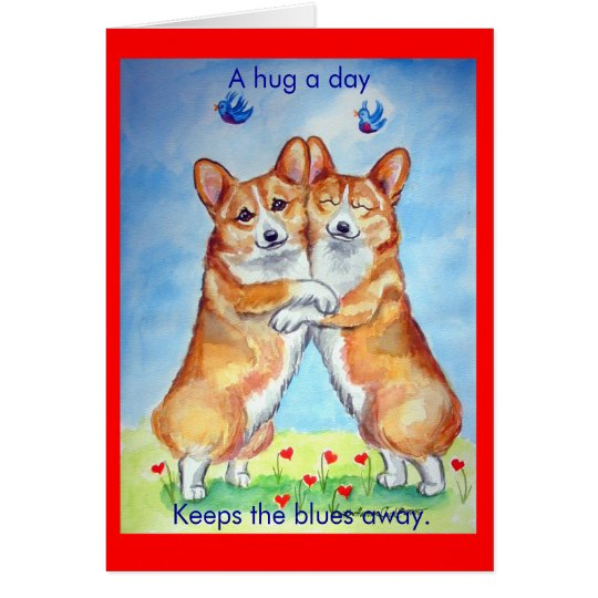 Pembroke Welsh Corgi Corgi Hugs Note Cards