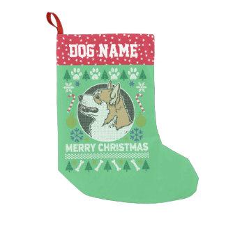 Pembroke Welsh Corgi Dog Ugly Christmas Sweater Small Christmas Stocking