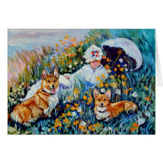 Pembroke Welsh Corgi Greeting Card