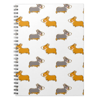 pembroke welsh corgi hand drawing handle notebooks