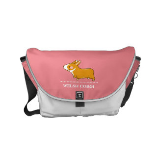 pembroke welsh corgi hand drawing, lead-lead and commuter bags