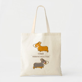 pembroke welsh corgi hand drawing tote bag