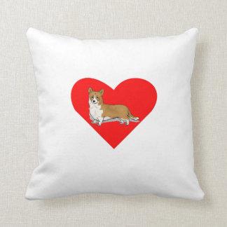 Pembroke Welsh Corgi Heart Throw Pillow