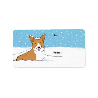 Pembroke Welsh Corgi Holiday Gift Labels