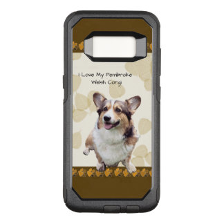 Pembroke Welsh Corgi on Tan Leaves OtterBox Commuter Samsung Galaxy S8 Case